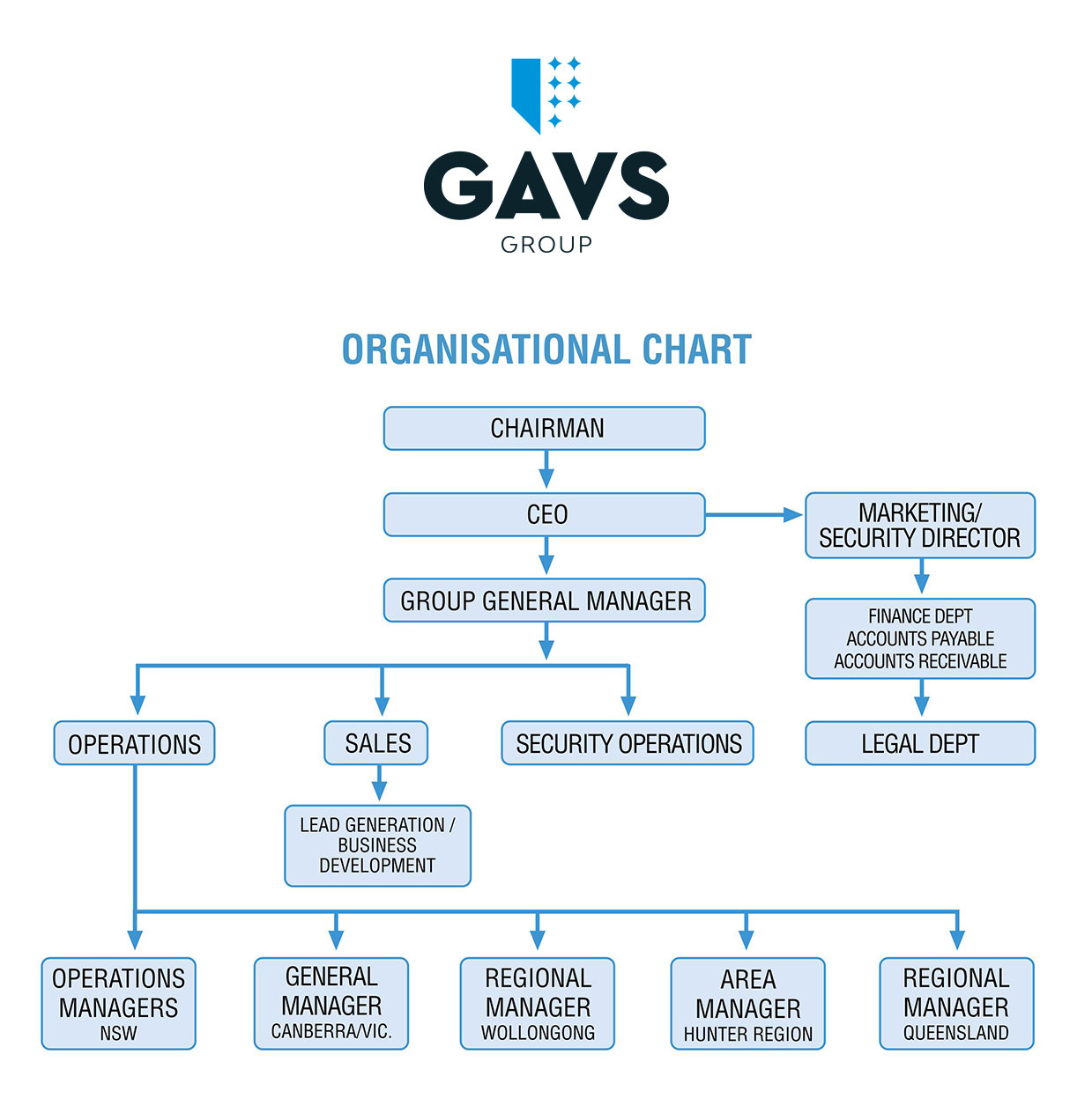 gavs group organisational chart